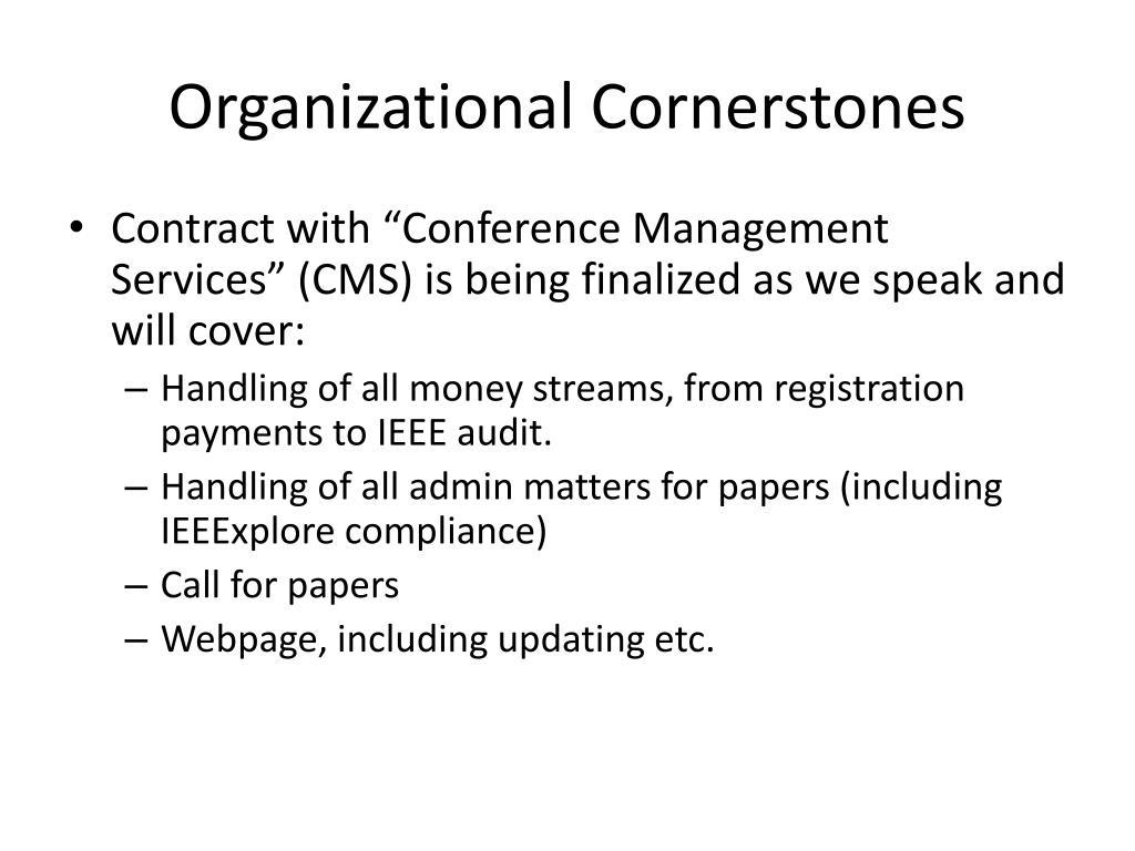 Organizational Cornerstones