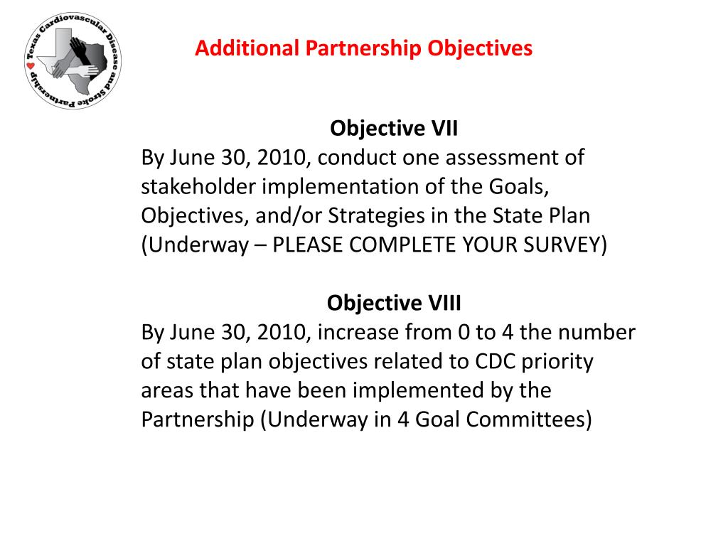 Additional Partnership Objectives
