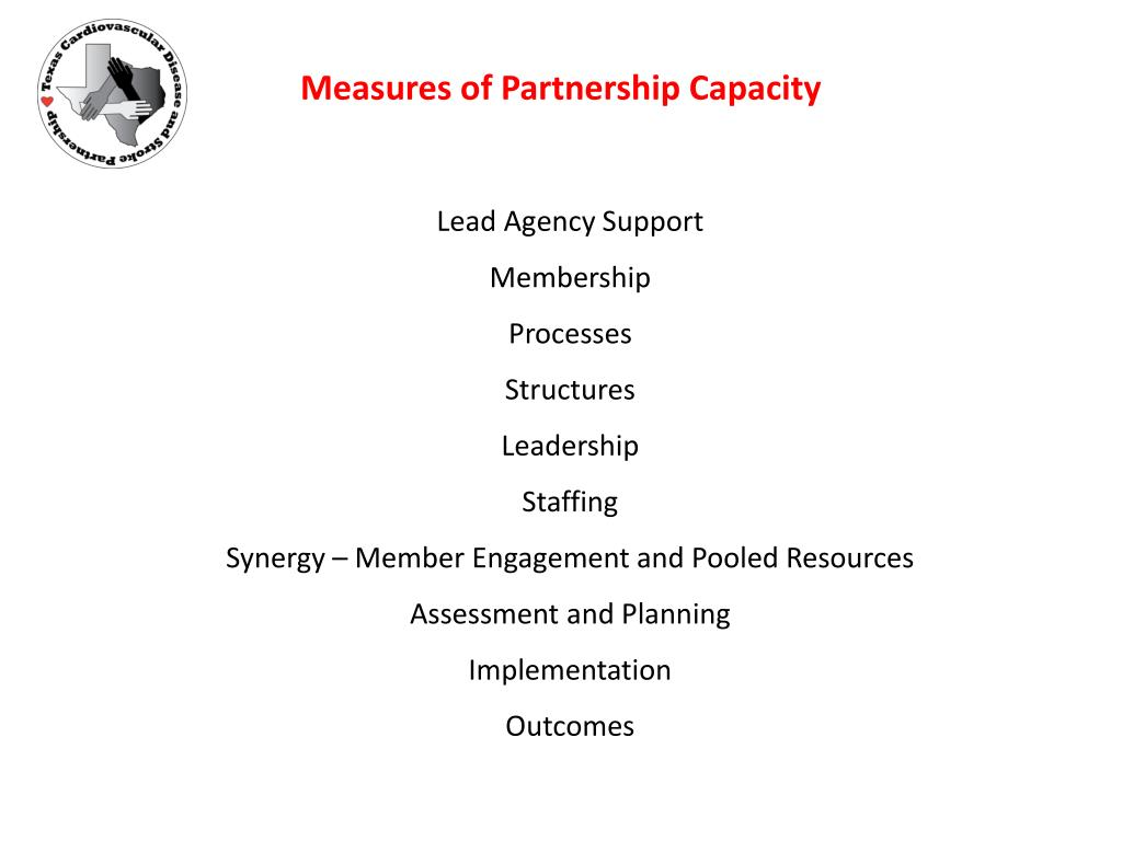 Measures of Partnership Capacity