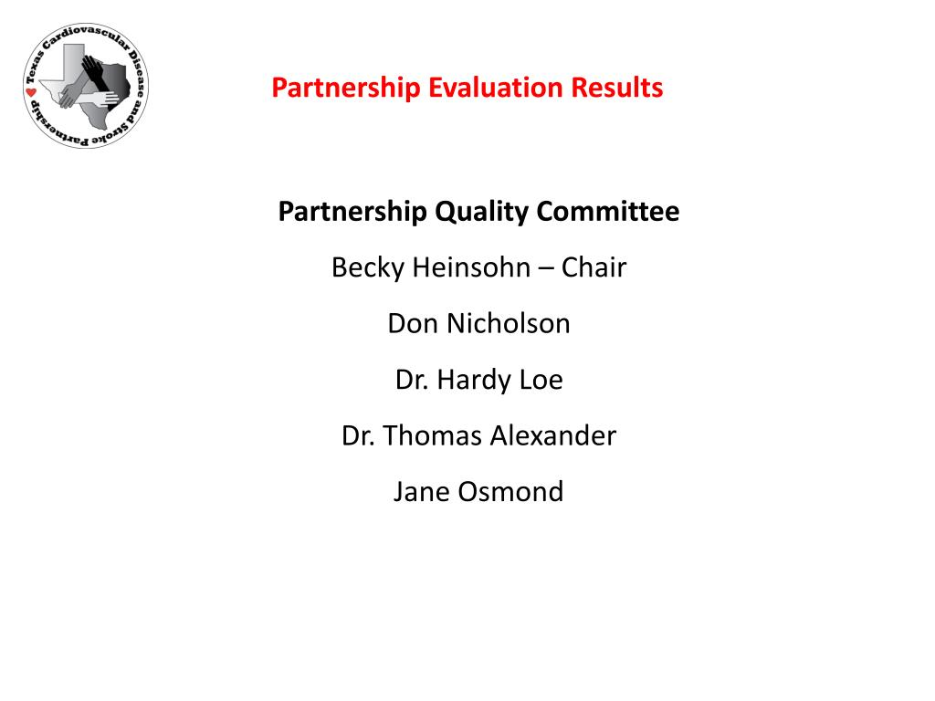 Partnership Evaluation Results