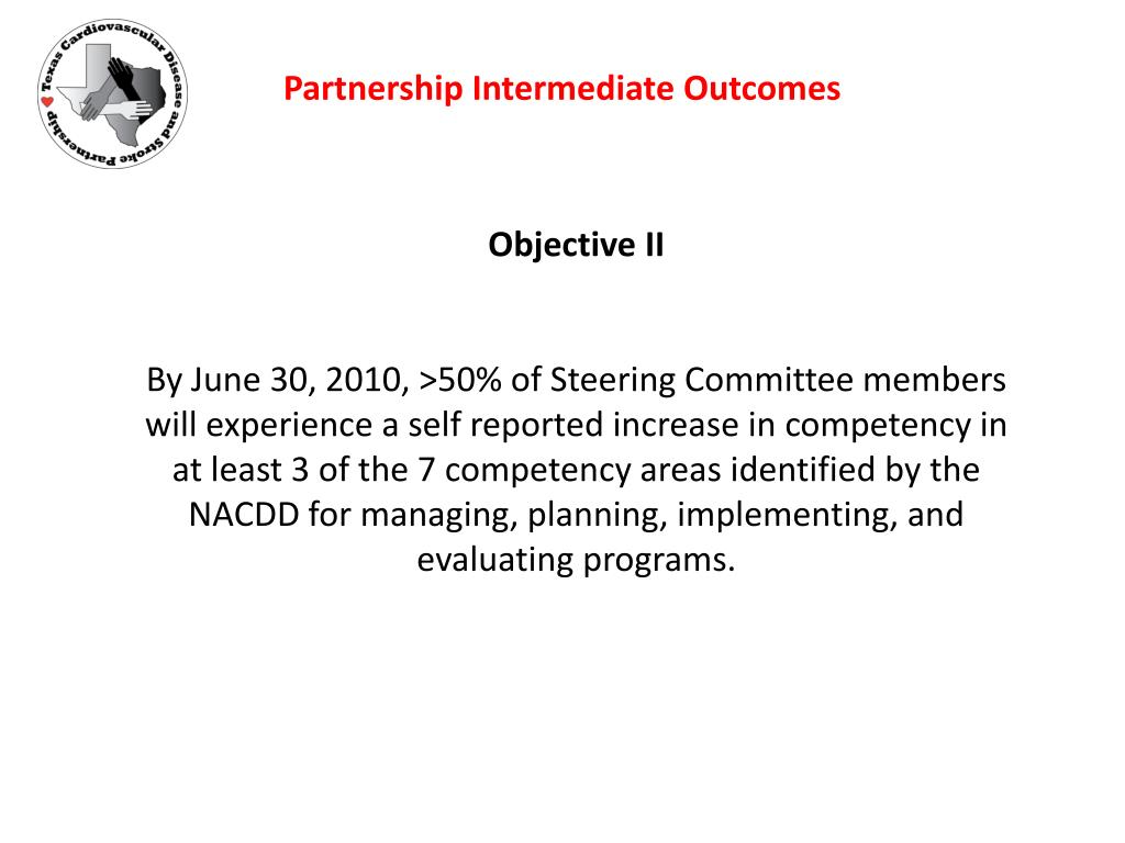 Partnership Intermediate Outcomes