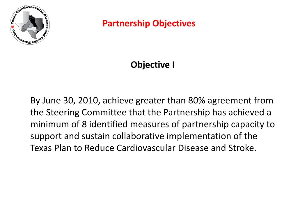 Partnership Objectives