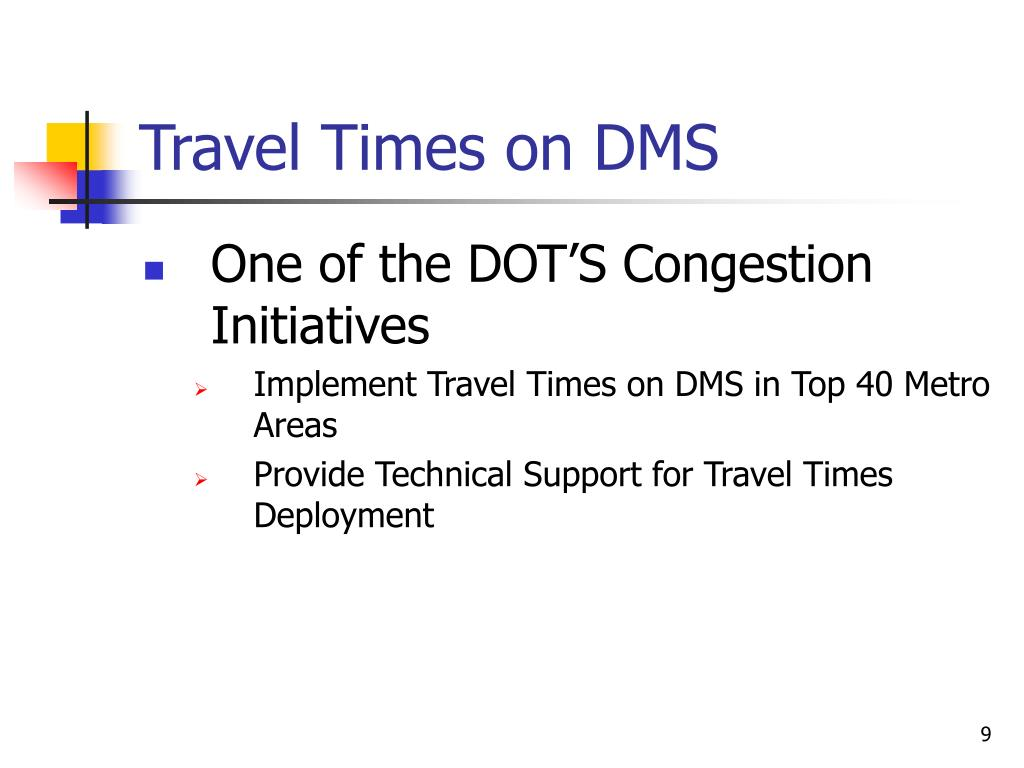 Travel Times on DMS
