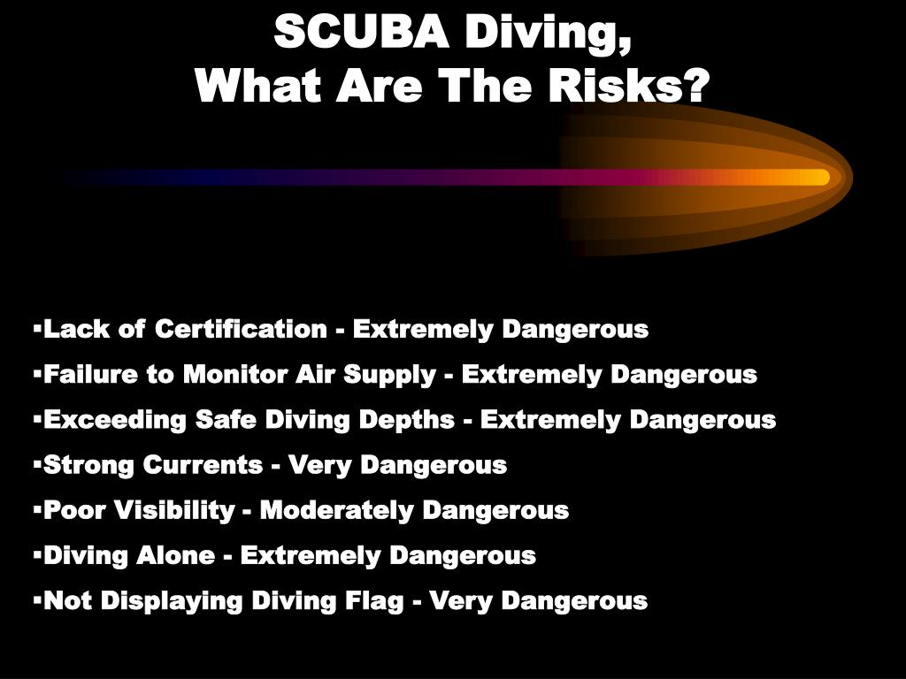 SCUBA Diving,                           What Are The Risks?