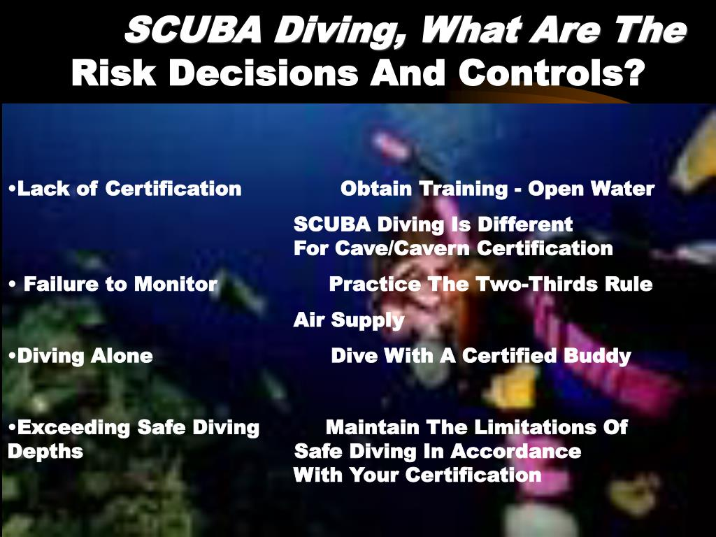 SCUBA Diving, What Are The