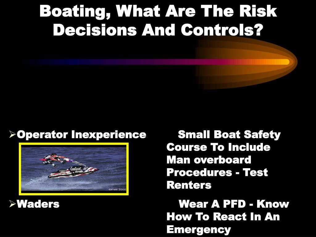 Boating, What Are The Risk          Decisions And Controls?