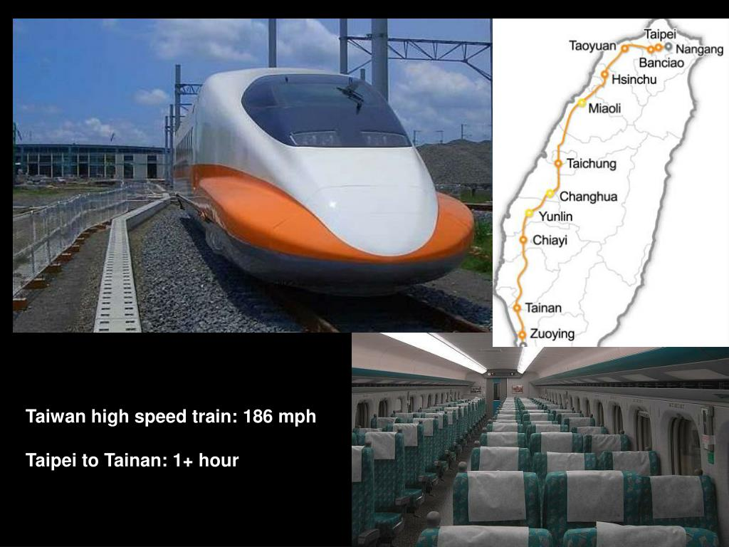 Taiwan high speed train: 186 mph