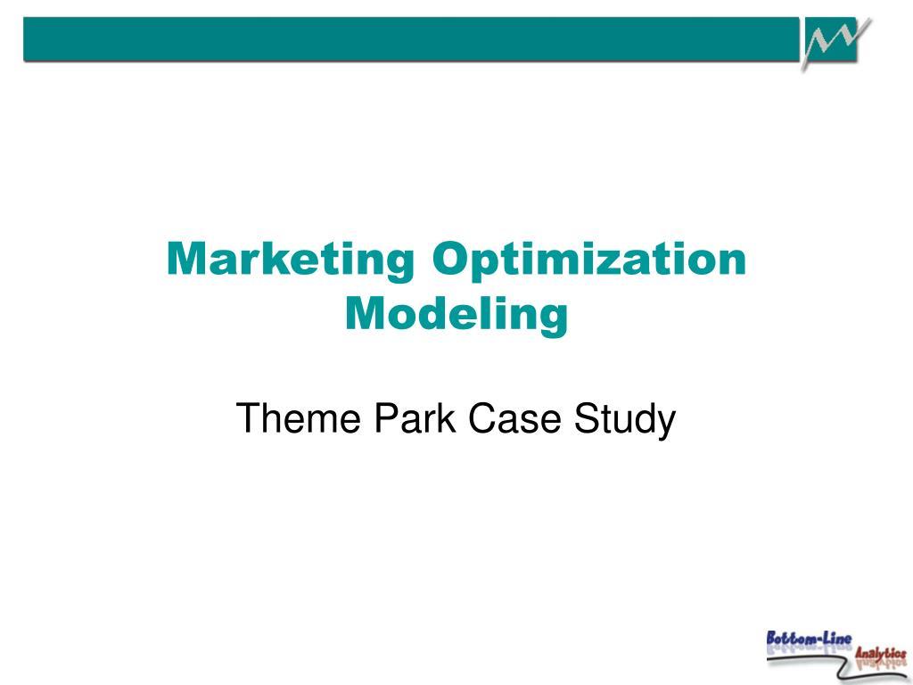 marketing optimization modeling