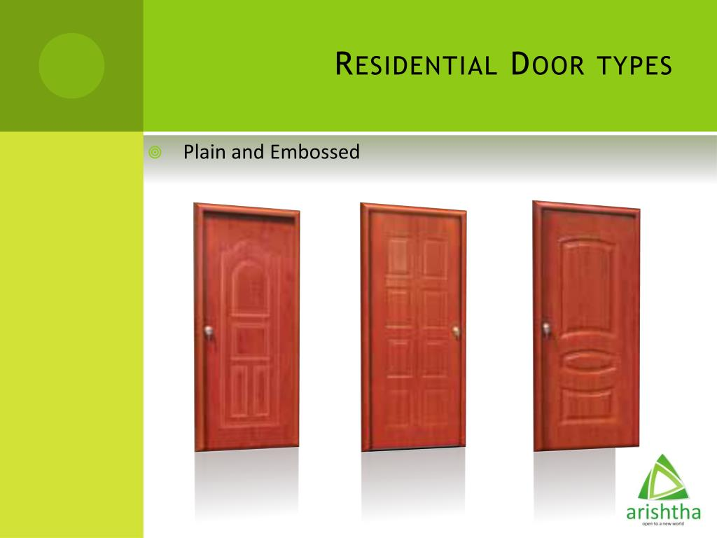Residential Door types