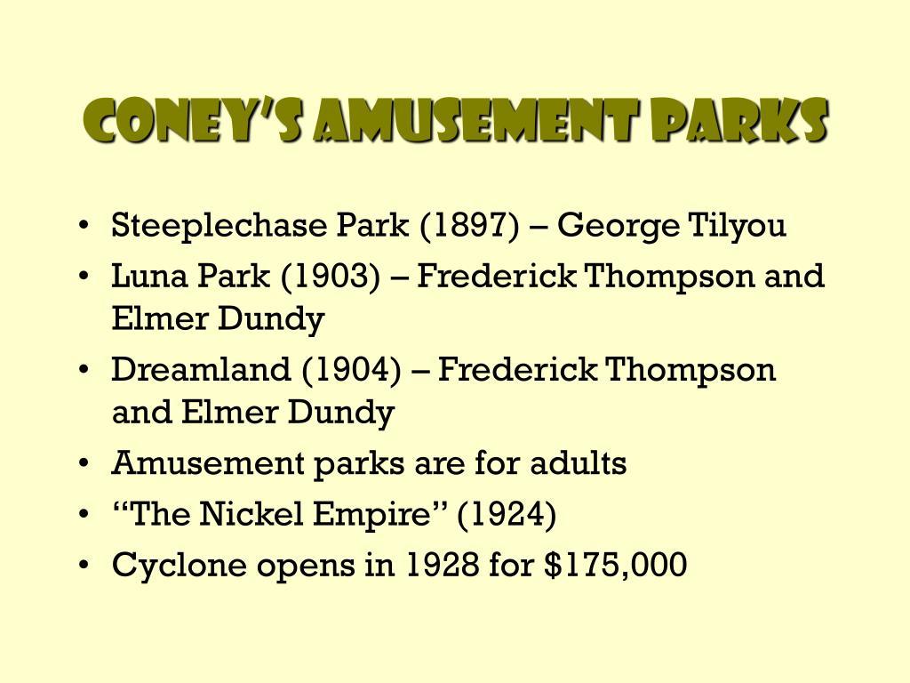 Coney's Amusement Parks