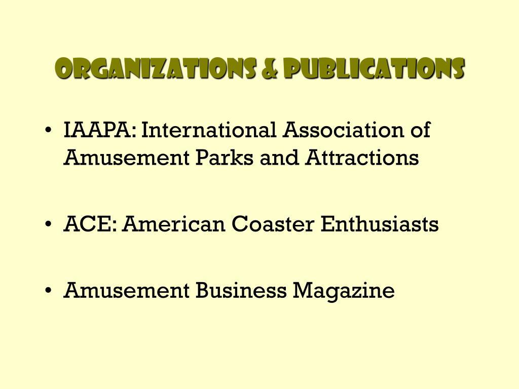 Organizations & Publications