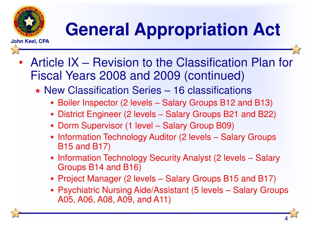General Appropriation Act