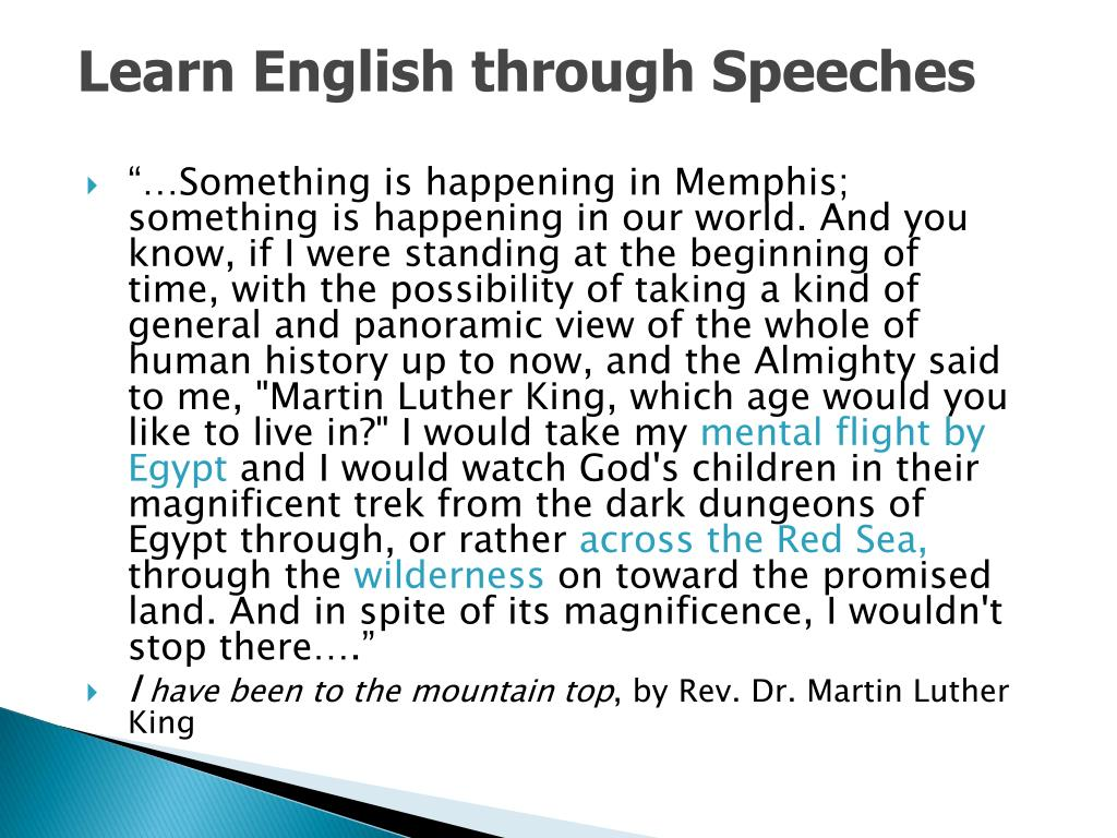Learn English through Speeches