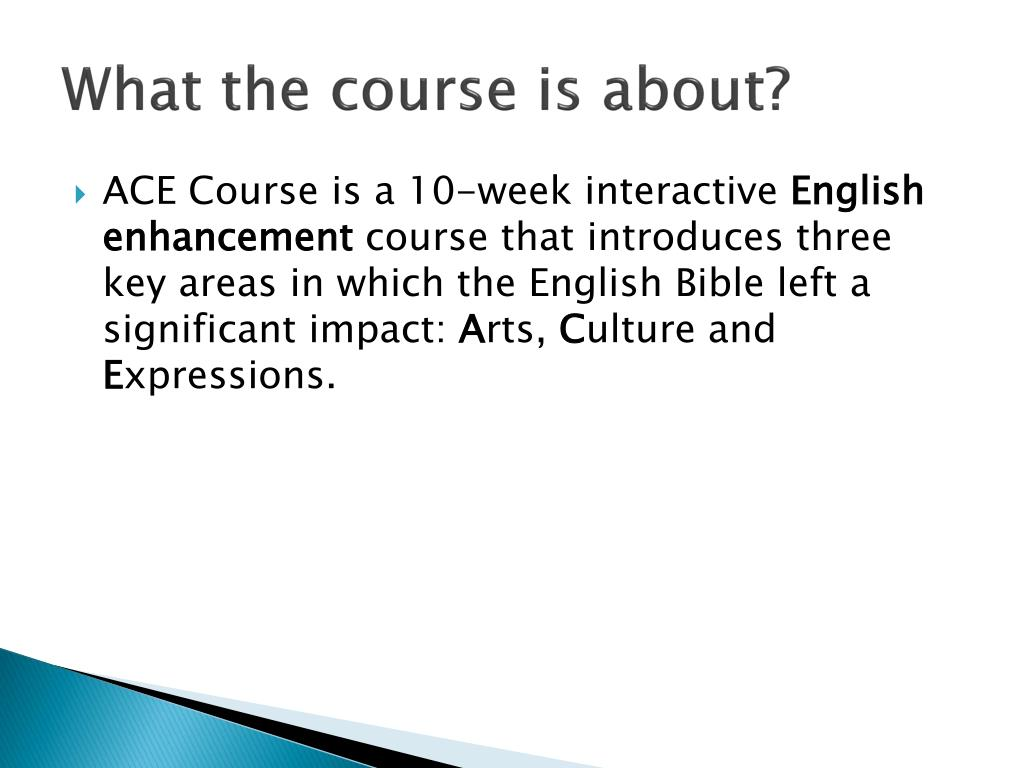 What the course is about?