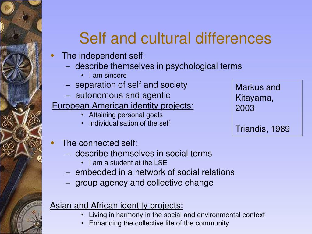 Self and cultural differences