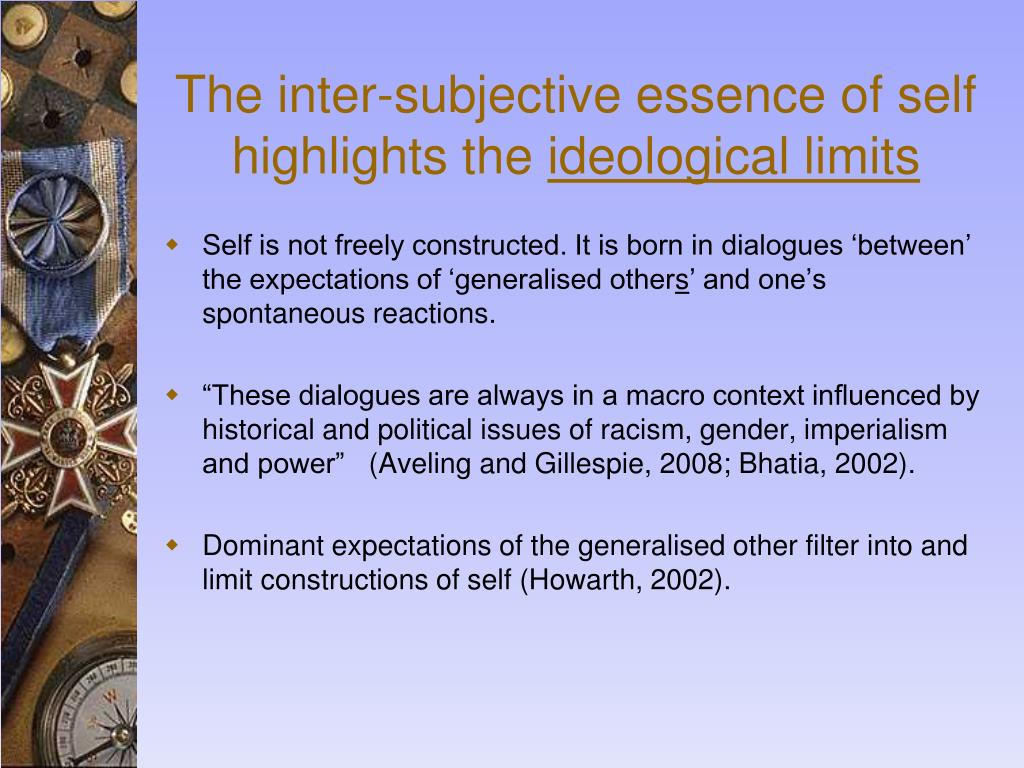 The inter-subjective essence of self highlights the