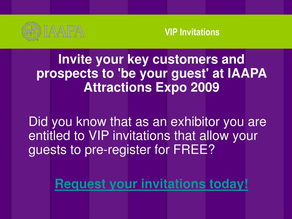VIP Invitations