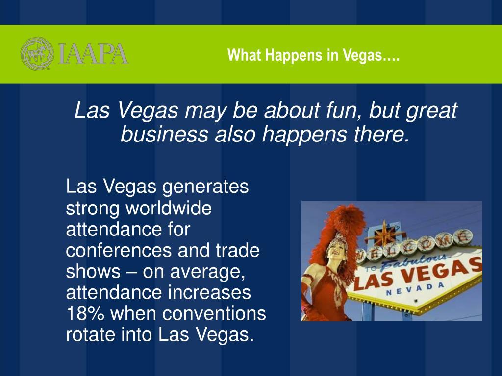 What Happens in Vegas….