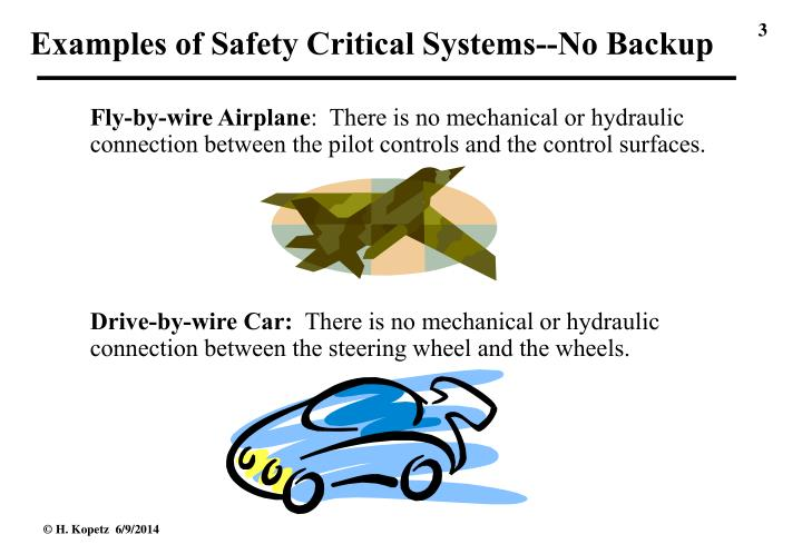 Examples of Safety Critical Systems--No Backup