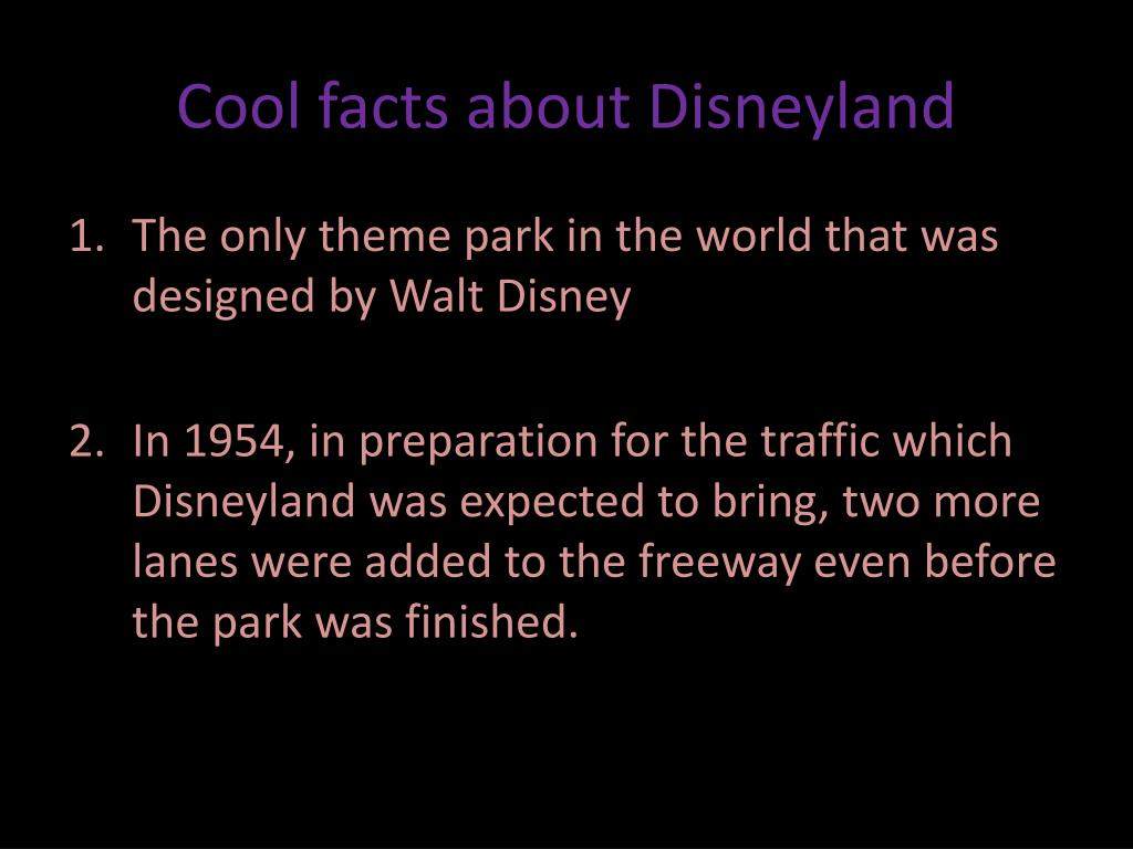 Cool facts about Disneyland