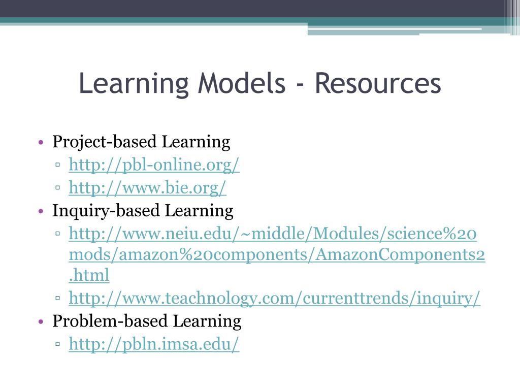 Learning Models - Resources