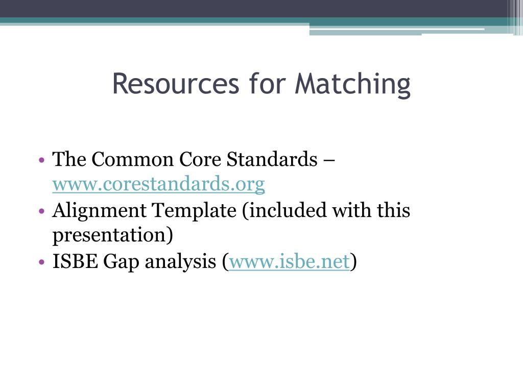Resources for Matching