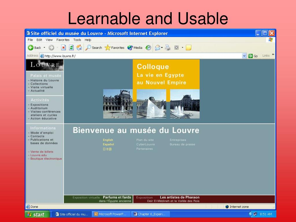Learnable and Usable