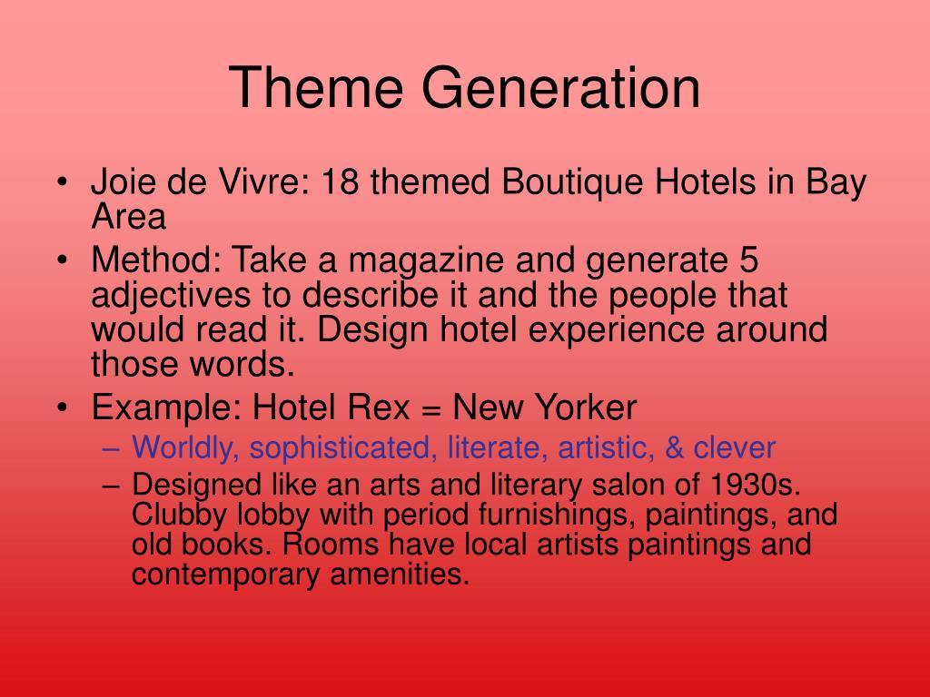 Theme Generation