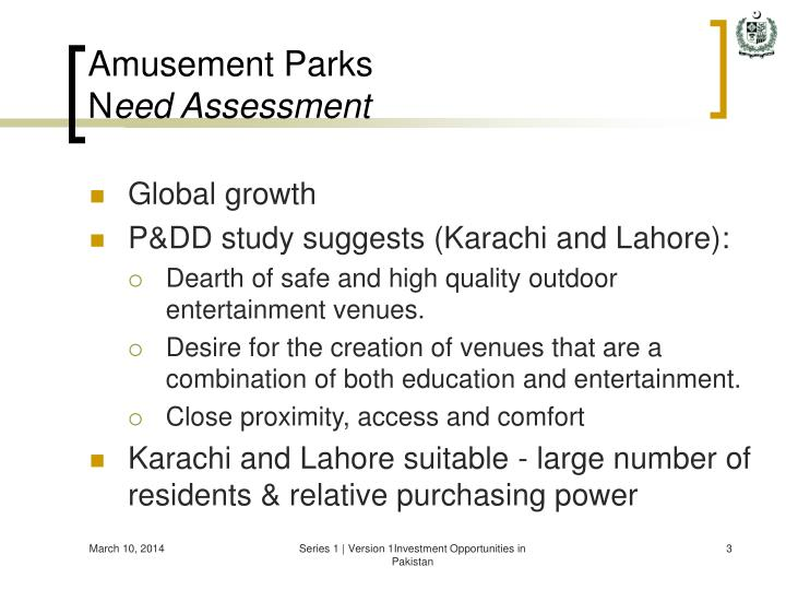 Amusement parks n eed assessment