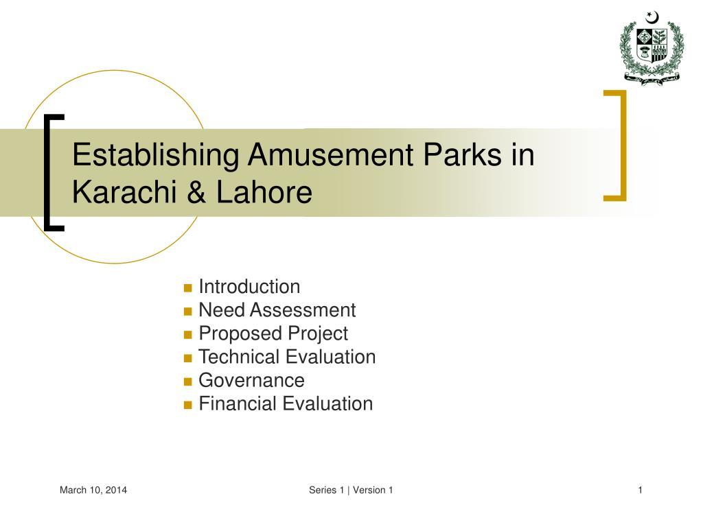 Establishing Amusement Parks in Karachi & Lahore