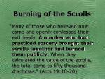 burning of the scrolls