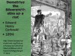 demetrius the silversmith stirs up a riot