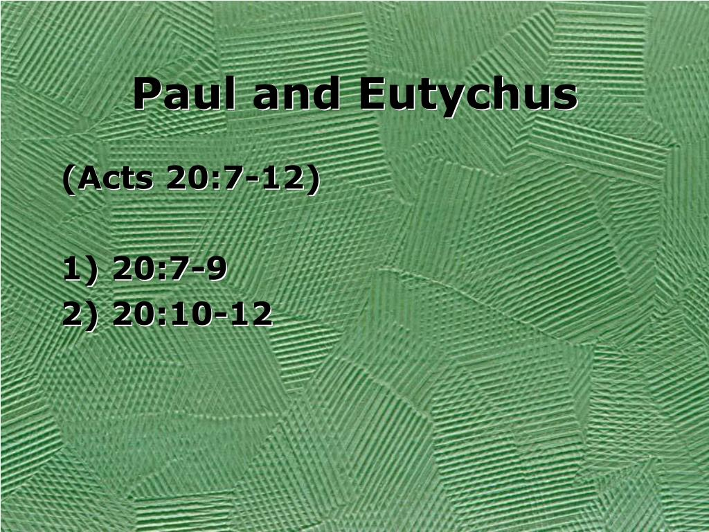 Paul and Eutychus