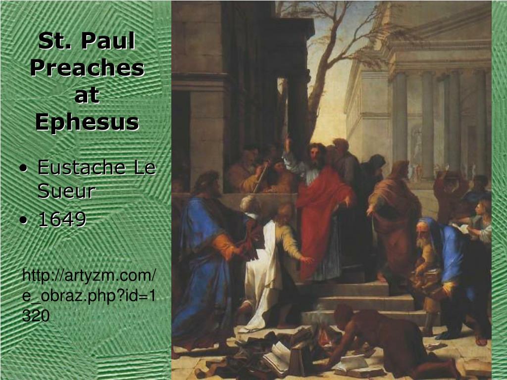 St. Paul Preaches at Ephesus