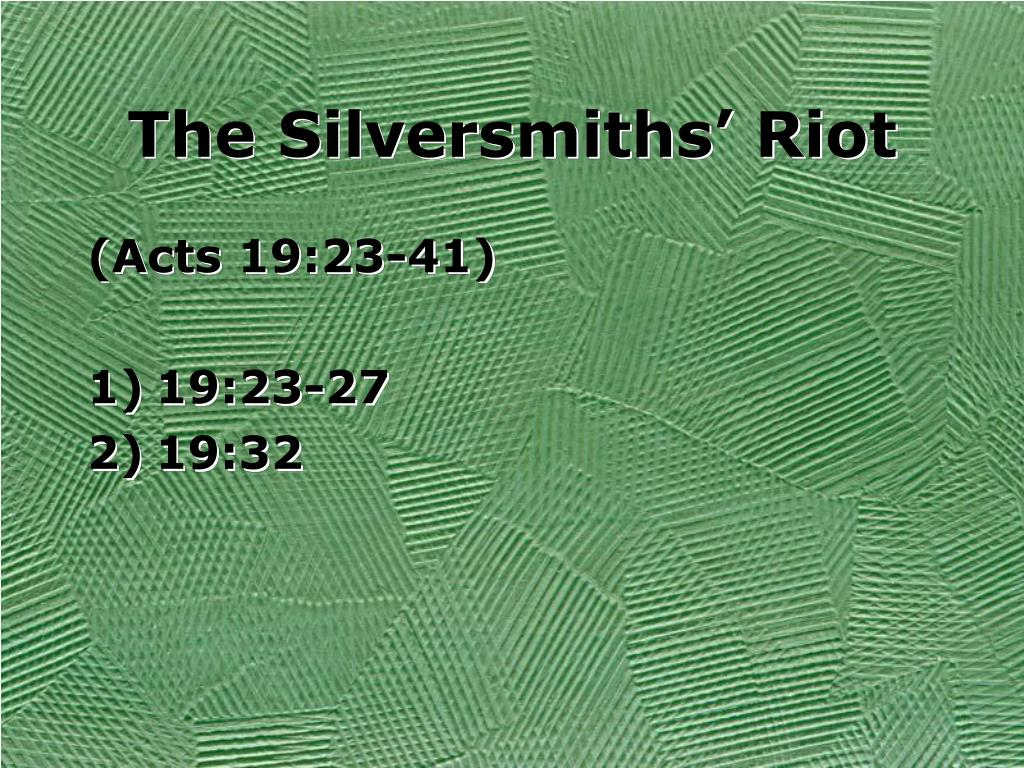 The Silversmiths' Riot