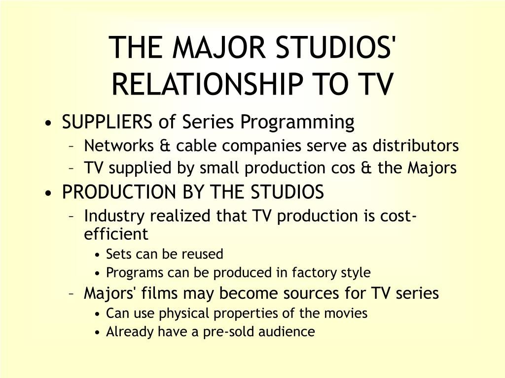 THE MAJOR STUDIOS' RELATIONSHIP TO TV