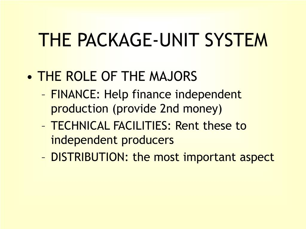 THE PACKAGE-UNIT SYSTEM