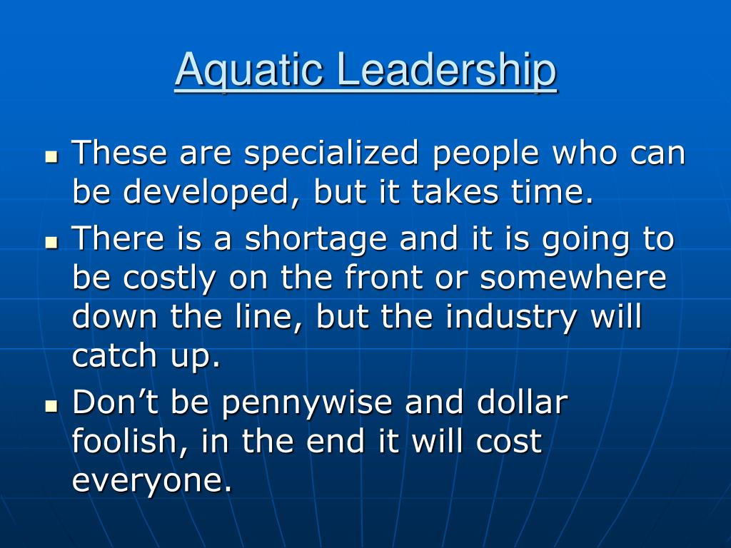 Aquatic Leadership