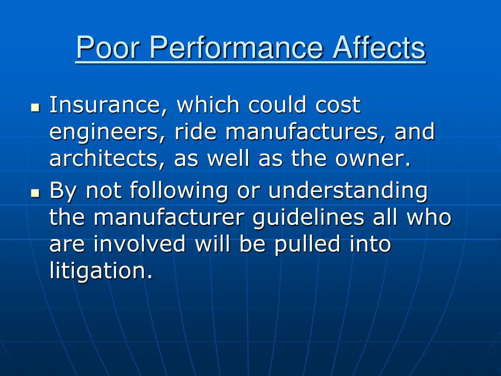 Poor Performance Affects