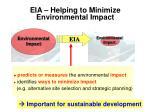 eia helping to minimize environmental impact