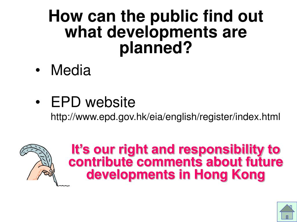 How can the public find out what developments are planned?