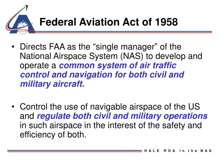 Federal Aviation Act of 1958