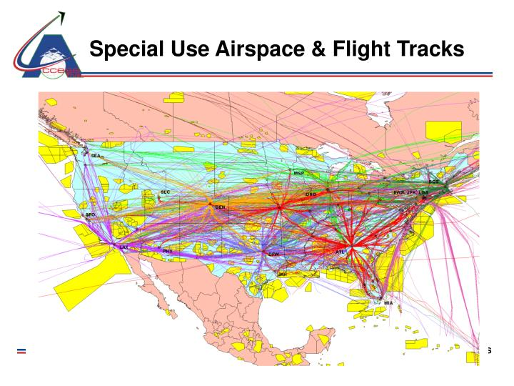 Special Use Airspace & Flight Tracks