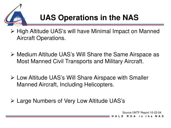 UAS Operations in the NAS