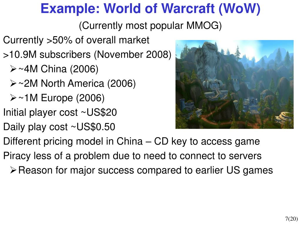Example: World of Warcraft (WoW)