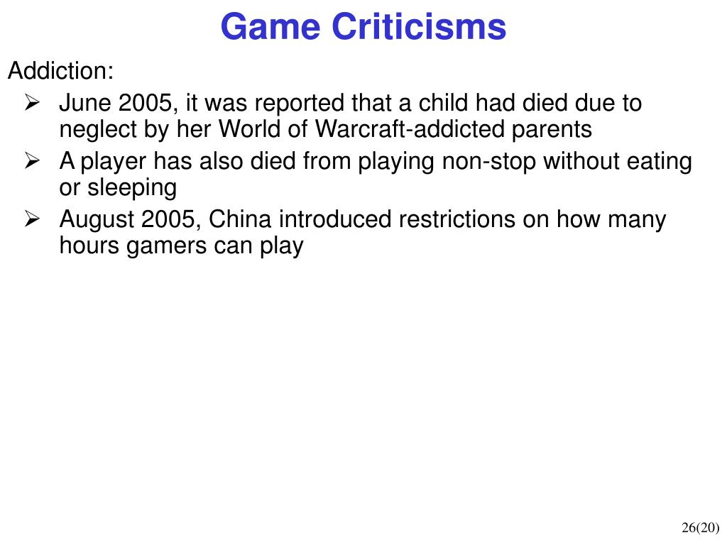 Game Criticisms