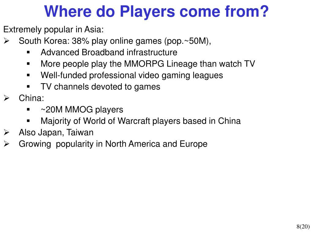 Where do Players come from?