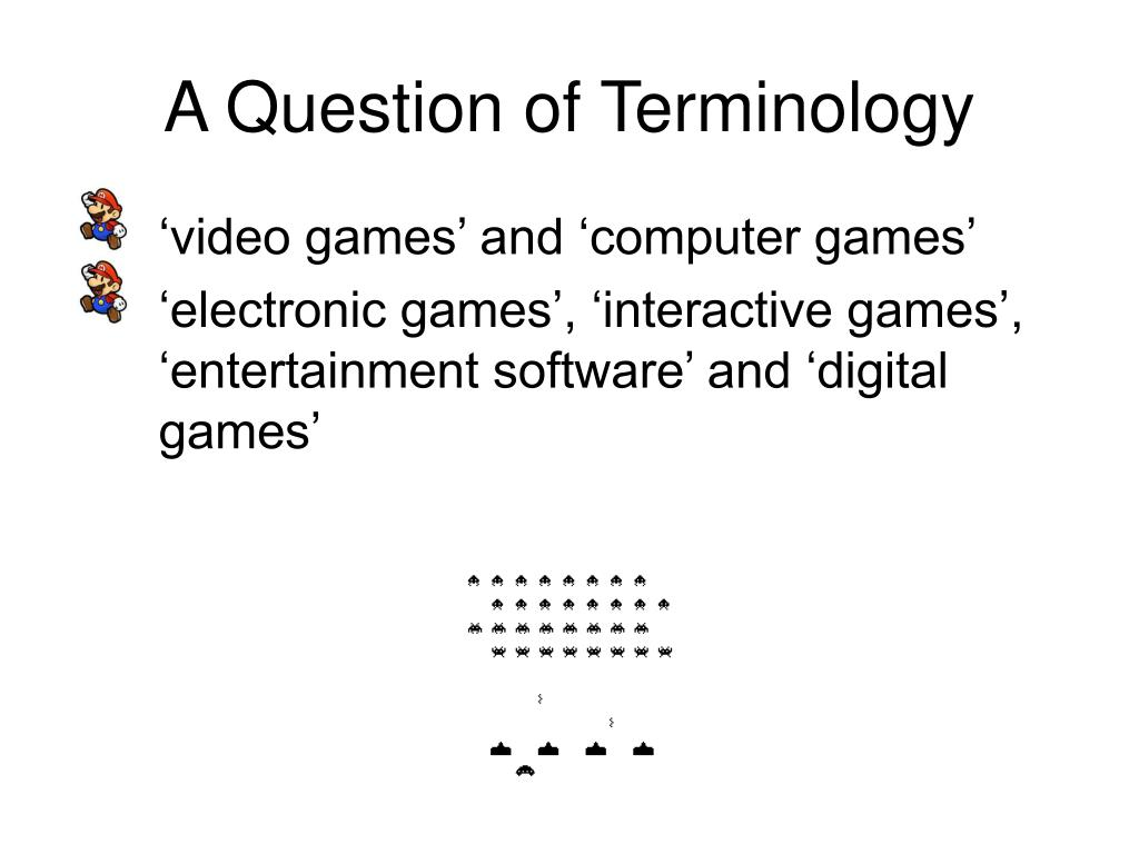 A Question of Terminology
