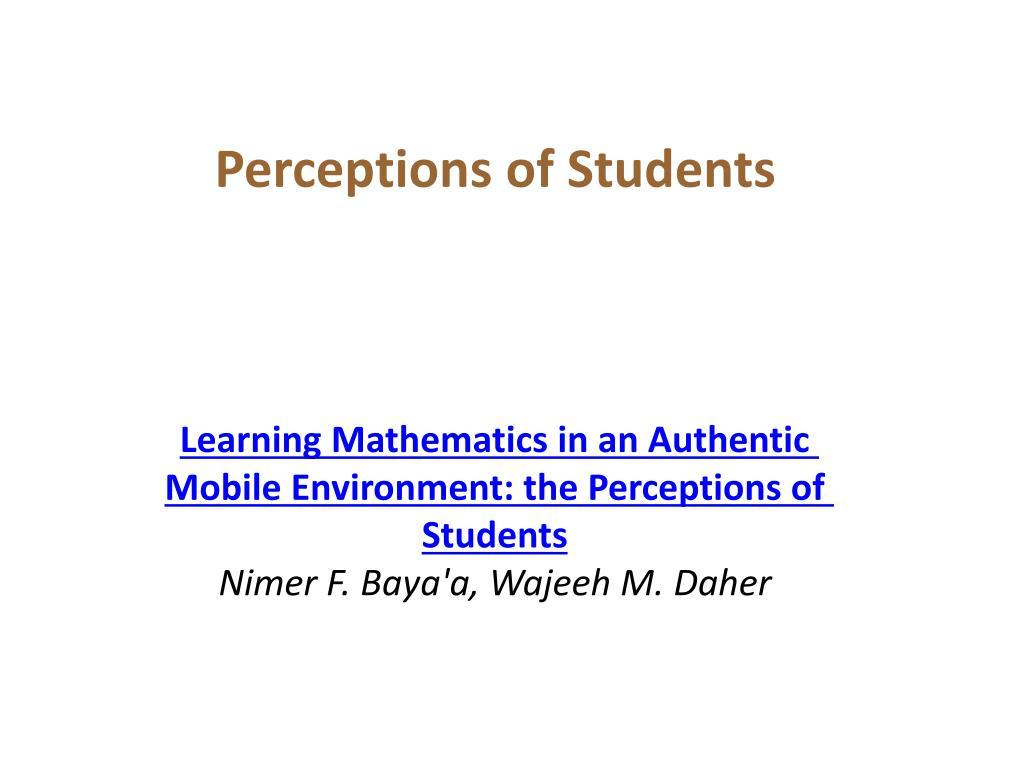 Perceptions of Students