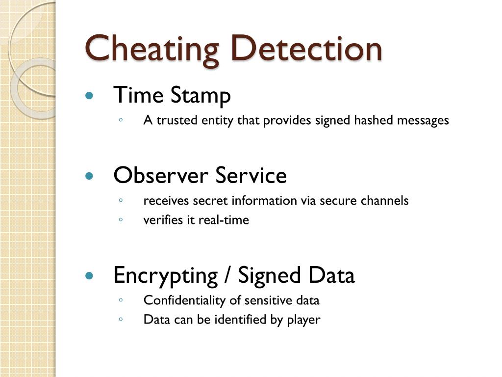 Cheating Detection